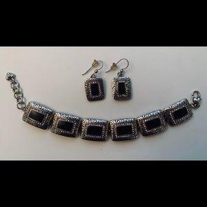 Brighton Earrings and Matching Bracelet Set
